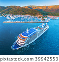 Aerial view of beautiful large white ship  39942553