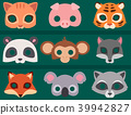 Animals carnival mask vector banner festival decoration masquerade and party costume cute cartoon 39942827