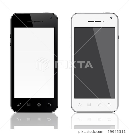 Smartphones vector mockup black and white 39943311