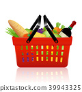 Shopping basket with groceries 39943325
