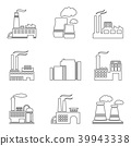 Factory thin line icons 39943338
