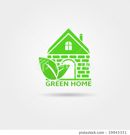 Green home vector logo design template 39943351