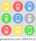 Vector icons of mobile phones 39943412