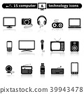 Computer and technology icon set 39943478
