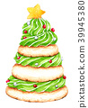 Christmas Tree Cookies Watercolor on white 39945380