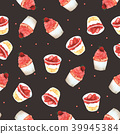 Seamless Pattern Strawberry Cupcake for Packaging  39945384