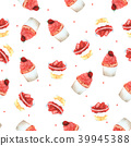 Seamless Pattern Strawberry Cupcake for Packaging  39945388