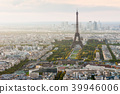 Eiffel tower aerial view - Paris Skyline 39946006