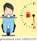 Young man driving a motorcycle  39955247