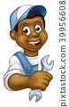 mechanic, spanner, man 39956608