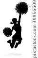 Cheerleader Silhouette 39956609