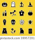 Set of Halloween icons 39957201