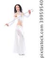 Woman dancing traditional oriental dance 39959540