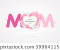 Happy Mothers Day message MOM background 39964115