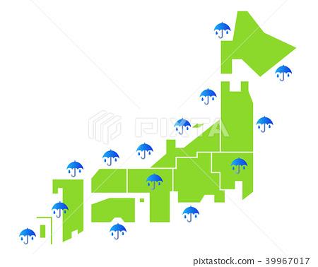 Illustration of rainy season weather forecast white background 39967017