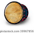 Taiko drums o-kedo on isolated white background. Musical instrument of Asia 39967856
