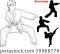 karate, kick, people 39968776