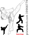 karate, kick, people 39968779