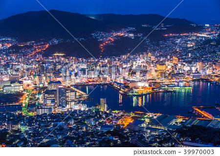 """Nagasaki Prefecture"" Night view of Mt. Inasa, Japan's three major night views 39970003"