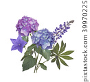 Blue and purple flowers 39970225