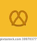 pretzel . Vector illustration . 39970377
