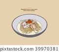 spaghetti scallop food 39970381