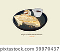 Tofu Custard with brown sugar. vector illustration 39970437