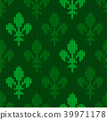 Heraldic lily on a seamless vector woolen pattern 39971178