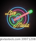 neon music sign 39971208