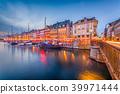Copenhagen, Denmark Canal Skyline 39971444