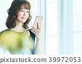 หญิงสาวทำงานกับมือถือ 39972053
