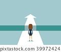 vector arrow businesswoman 39972424