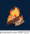 bonfire, campfire, icon 39973257