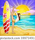 vector yoga girl 39973491