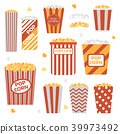 Popcorn Boxes Icon Set 39973492