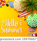 Summer holidays background in the yellow beach san 39976667