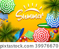 Summer holidays background in the yellow beach san 39976670