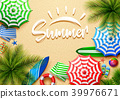 Summer holidays background in the beach sand. Top  39976671