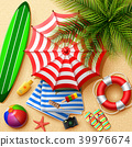 Summer holidays background in the beach sand. Top  39976674