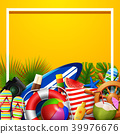 Summer holidays blank background in the yellow bea 39976676