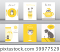 Set of cute animals poster,template,cards,cats 39977529