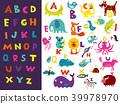 明亮 字母 儿童 39978970