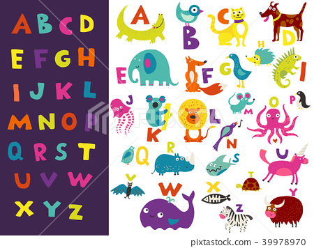 Children Alphabet Bright Set 39978970