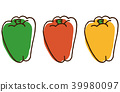 Three color peppers 39980097