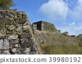 takeda castle ruins, castle tower stand, castle tower support 39980192