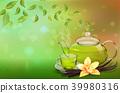 vector, green, tea 39980316