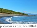 후지산, 바다, 파도 39980844