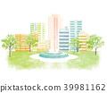 都市風景新綠色例證 39981162