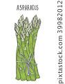Hand drawn asparagus. 39982012