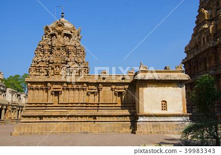 Brihadishvara Temple, Thanjavur, Tamil Nadu - Stock Photo